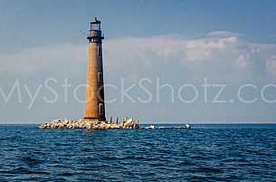 Sand Island Light - South of Dauphin Island