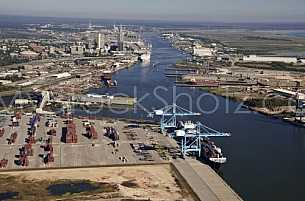 Aerial view - Port of Mobile