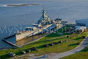 Battleship Alabama Aerial Shoot