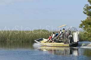 Airboat in Mobile Delta