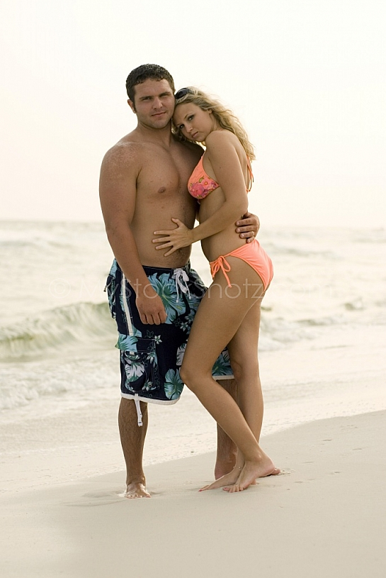 young love at the beach