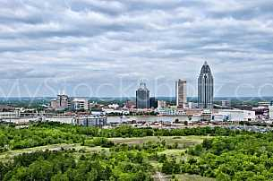 Mobile Alabama Skyline - Looking NW