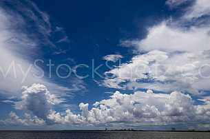 Clouds over Mobile Bay