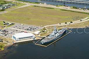 USS Alabama Memorial Park Aerial
