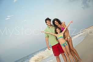 Gulf Shores Family on Beach