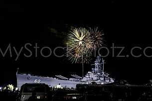 July 4th Fireworks at USS Alabama
