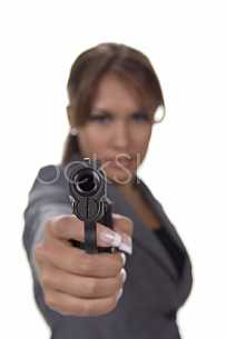 Woman with a gun