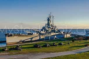 Battleship Alabama Aerial Shoot
