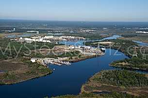 Aerial Mobile Alabama - Port of Chickasaw
