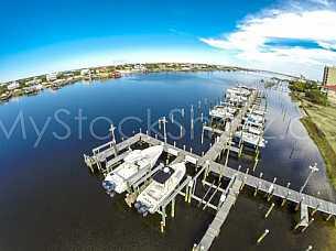 Boat docks in Perdido Key