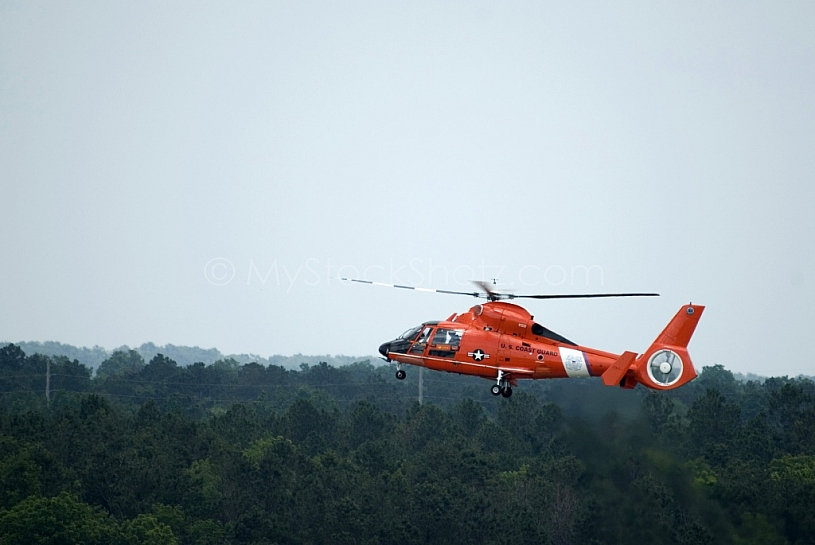 Coast Guard Helicopter with gear down