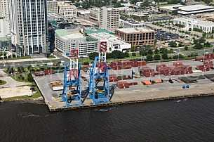 State Docks Aerial