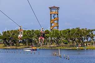Ziplines at Gulf State Park