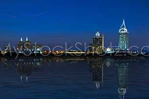 Mobile, Alabama Skyline at Night