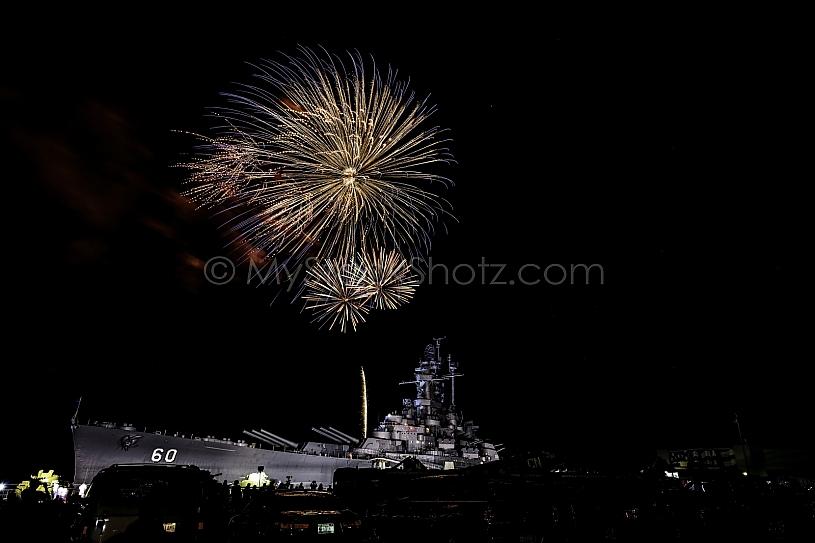 July 4th Fireworks at USS Alabama