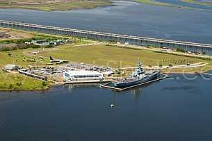 USS Alabama Memorial Park Aerial