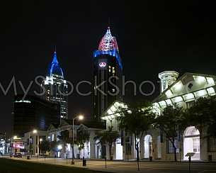 RSA Tower - Riverview Plaza - Twin Towers at night