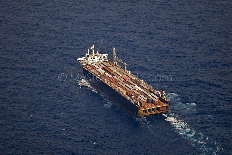 Container Ship in Gulf of Mexico